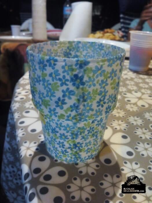 vaso decopage Las Palmeras