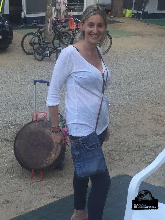 Bolso de un vaquero reciclado, regalo para Silvia