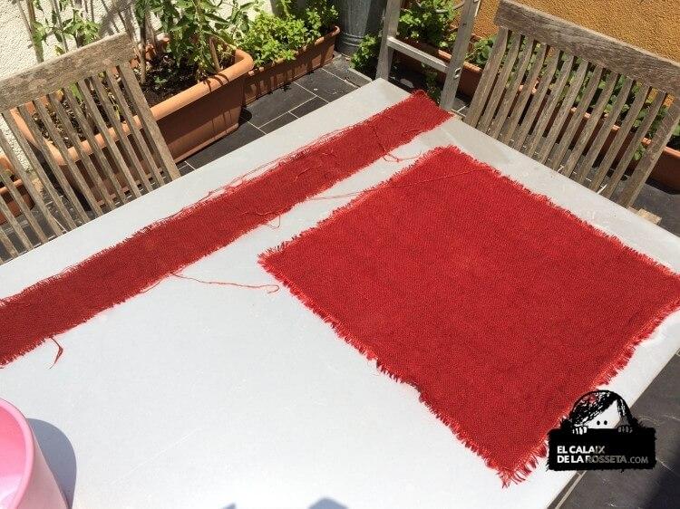 Cambiemos el color a la tela de saco o arpillera