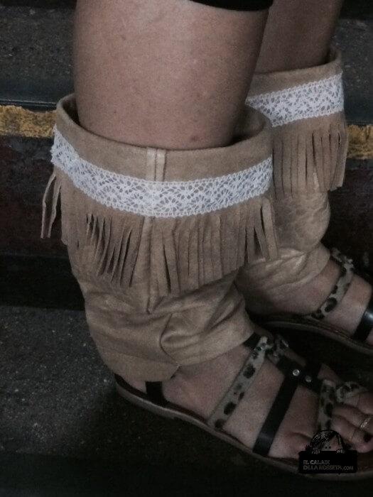 Perneras para las sandalias de verano