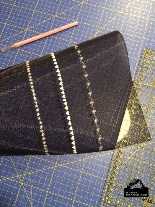 Un nuevo neceser bordado sobre tul negro para Susana