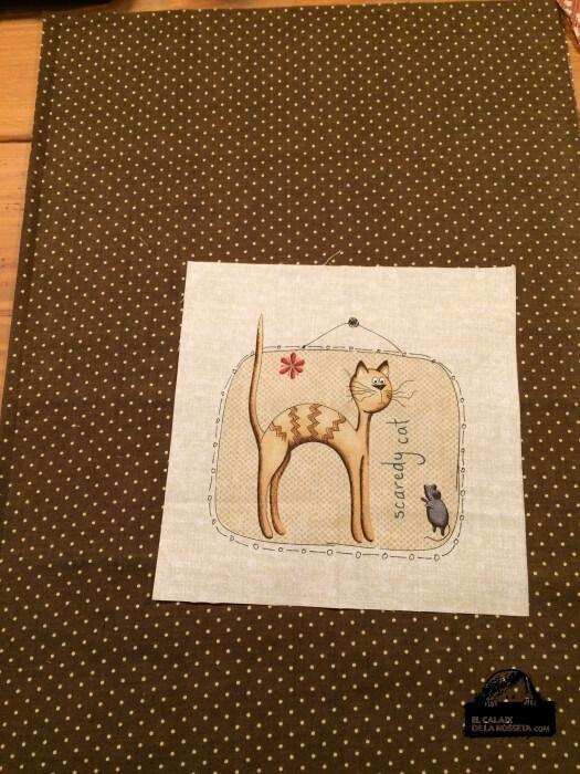 Bolsa labores de gatitos topos marrón