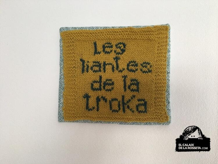 """Cuadro tejido """"Les Liantes de la troka"""""""